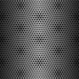 Modelo negro del hexágono Fotografía de archivo