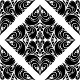 Modelo negro inconsútil en un fondo blanco. Imagen de archivo