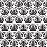 Modelo negro inconsútil en un fondo blanco Imagen de archivo libre de regalías