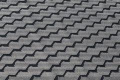 Modelo negro moderno del embaldosado del tejado, textura del fondo Imagenes de archivo