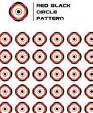 Modelo negro rojo del círculo de la flor Imagen de archivo libre de regalías