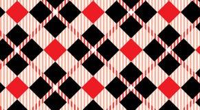 Modelo negro y azul de la guinga Textura del Rhombus para - la tela escocesa, manteles, camisas, vestidos, papel, lecho, mantas,  ilustración del vector