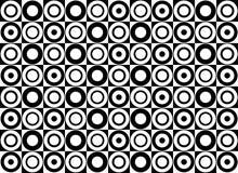 Modelo negro y blanco de círculos Imágenes de archivo libres de regalías