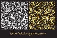 Modelo negro y de oro Imagenes de archivo