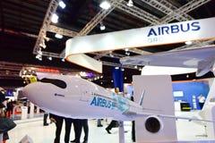 Modelo NEO de Airbus A330 na exposição em Singapura Airshow Fotografia de Stock