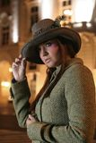 Modelo no chapéu Fotos de Stock