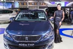 Modelo no identificado en el 33o motor internacional Exp de Tailandia Imágenes de archivo libres de regalías