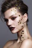 Modelo novo com composição profissional da arte Fotos de Stock Royalty Free
