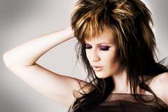 Modelo novo com face bonita Imagem de Stock Royalty Free