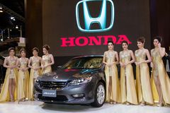 Modelo novo de Honda Accord apresentado na exposição automóvel Fotografia de Stock