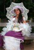 Modelo novo vestido como uma senhora Fotos de Stock Royalty Free