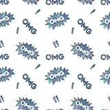 Modelo olográfico brillante inconsútil de las etiquetas engomadas Imagen de archivo libre de regalías