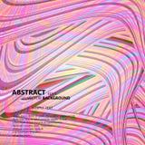 Modelo ondulado con la pluma abstracta Imágenes de archivo libres de regalías