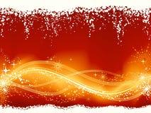 Modelo ondulado de oro rojo abstracto ilustración del vector