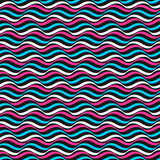 Modelo ondulado del color - fondo repetible del vector Fotos de archivo libres de regalías