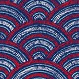 Modelo ondulado del vintage inconsútil Textura de Grunge Étnico y tribal Ilustración del Vector