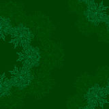 Modelo orgánico redondo ornamental en un fondo verde Foto de archivo