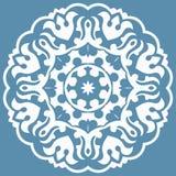 Modelo oriental con arabesques y elementos florales Fotos de archivo