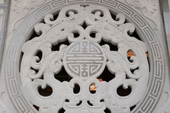 Modelo oriental de la piedra del dragón Fotos de archivo libres de regalías