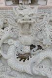 Modelo oriental de la piedra del dragón Imágenes de archivo libres de regalías
