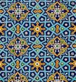 Modelo oriental en los azulejos Imágenes de archivo libres de regalías
