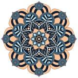 Modelo oriental Ornamento redondo tradicional del colorante mandala Imágenes de archivo libres de regalías