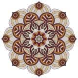 Modelo oriental Ornamento redondo tradicional del colorante mandala Fotografía de archivo