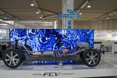 Modelo original do carro na sala de exposições de Toyota Imagens de Stock