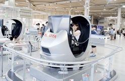 Modelo original do carro na sala de exposições de Toyota Imagem de Stock