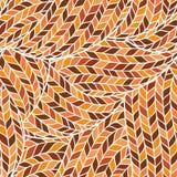 Modelo ornamental colorido inconsútil hecho punto del garabato stock de ilustración