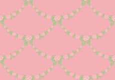 Modelo ornamental de guirnaldas de rosas ilustración del vector