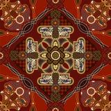 Modelo ornamental de la teja del vector Diseño cuadrado colorido, estilo étnico libre illustration