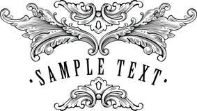 Modelo ornamental del marco de la vendimia para su título Fotos de archivo libres de regalías