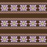 Modelo ornamental del vector inconsútil con las flores estilizadas Imagenes de archivo