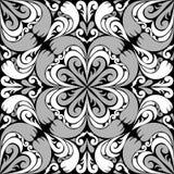 Modelo ornamental inconsútil con el ornamento blanco grisáceo. ilustración del vector