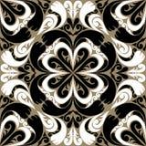 Modelo ornamental inconsútil con Ornam negro-blanco Imagen de archivo libre de regalías