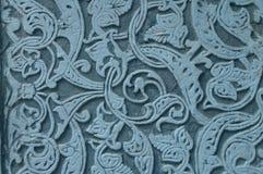 Modelo ornamento-azul de mármol decorativo auténtico en piedra, estilo árabe fotos de archivo