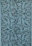 Modelo ornamento-azul de mármol decorativo auténtico en piedra, estilo árabe imagen de archivo libre de regalías