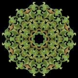 Modelo, ornamento floral Imagenes de archivo