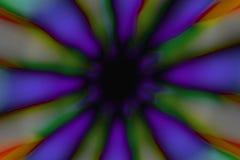 Modelo oscuro del círculo radial multicolor fotografía de archivo libre de regalías