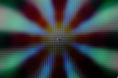 Modelo oscuro del círculo radial multicolor, efecto de la pirámide foto de archivo