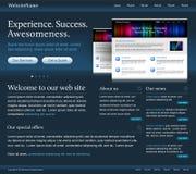 Modelo oscuro del Web site stock de ilustración