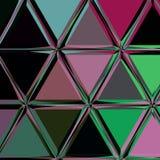 Modelo oscuro multicolor del triángulo Imágenes de archivo libres de regalías