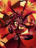 Modelo otoñal abstracto del árbol stock de ilustración