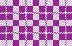 Modelo púrpura de la guinga Textura del Rhombus para - la tela escocesa, manteles, camisas, vestidos, papel, lecho, mantas, edred ilustración del vector