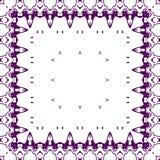 Modelo púrpura del cordón foto de archivo