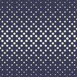 Modelo púrpura inconsútil de semitono de la pendiente geométrica de los círculos stock de ilustración
