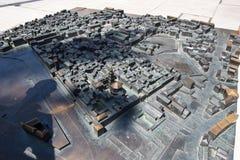 Modelo palacio del ` s de la ciudad y de Diocletian de la fractura Imagen de archivo