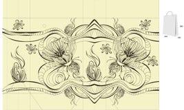 Modelo para el diseño del bolso Fotos de archivo libres de regalías
