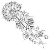 Modelo para el libro de colorear ejemplo de medusas en vector Imagen de archivo